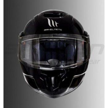 MT Atom SV Raceline Evo Gloss Black Flip Up Helmet 1