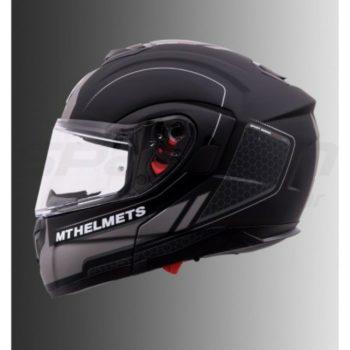 MT Atom SV Raceline Evo Matt Grey Flip Up Helmet 2