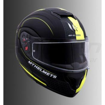 MT Atom SV Raceline Evo Matt Yellow Flip Up helmet 1