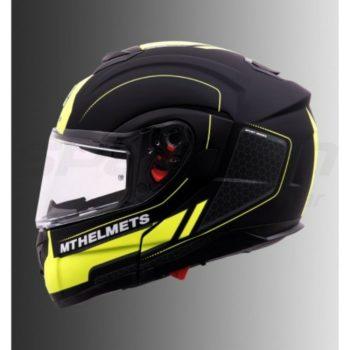MT Atom SV Raceline Evo Matt Yellow Flip Up helmet 2