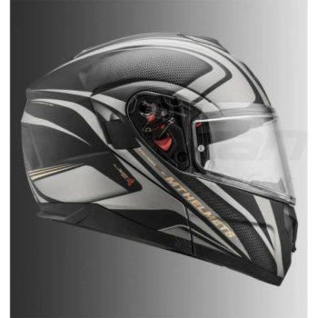 MT Atom SV Tech SX1 Matt Gold Flip Up Helmet 2