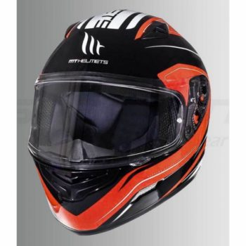 MT Mugello Maker Gloss Fluorescent Orange Full Face Helmet 1