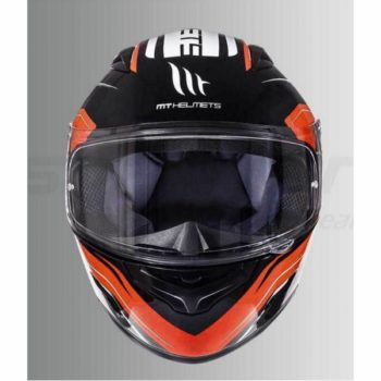 MT Mugello Maker Gloss Fluorescent Orange Full Face Helmet 2