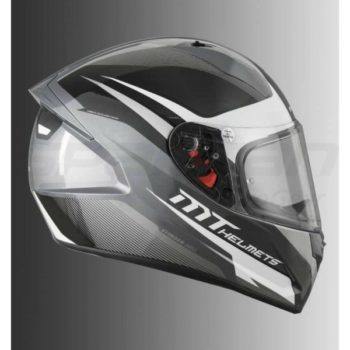 MT Stinger Divided Matt White Full Face Helmet 1