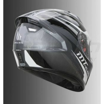 MT Stinger Divided Matt White Full Face Helmet 2