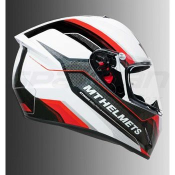 MT Stinger Pole Gloss Red Full Face Helmet 1