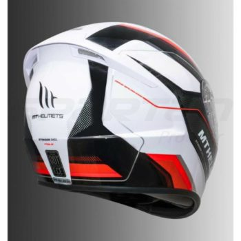 MT Stinger Pole Gloss Red Full Face Helmet 2