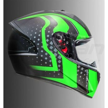 MT Stinger Warhead Matt Green Full Face Helmet 1