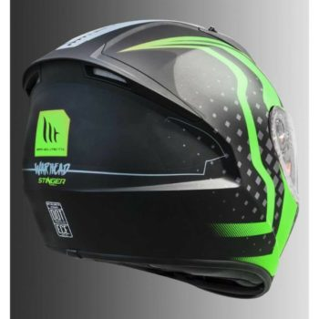 MT Stinger Warhead Matt Green Full Face Helmet 2