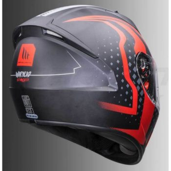 MT Stinger Warhead Matt Red Full Face Helmet 2