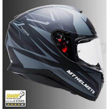 MT Thunder 3 SV Effect Matt Black Grey Full Face Helmet 1