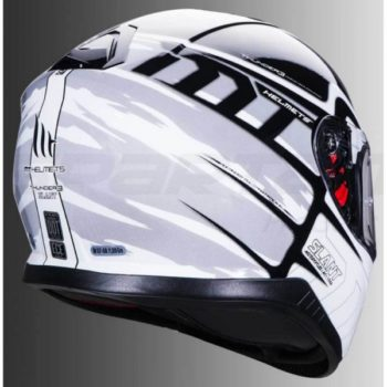 MT Thunder 3 SV Slant Black White Matt Full Face Helmet 2