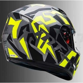Mt Mugello Leopard Matt Black Yellow Full Face Helmet 2