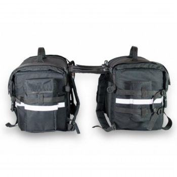 Road Gods Triton x2 Black Saddle Bag 5