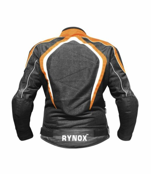 Rynox Tornado Pro V1 Black Orange Riding Jacket 2