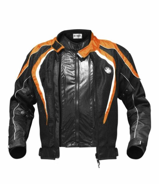 Rynox Tornado Pro V1 Black Orange Riding Jacket 3