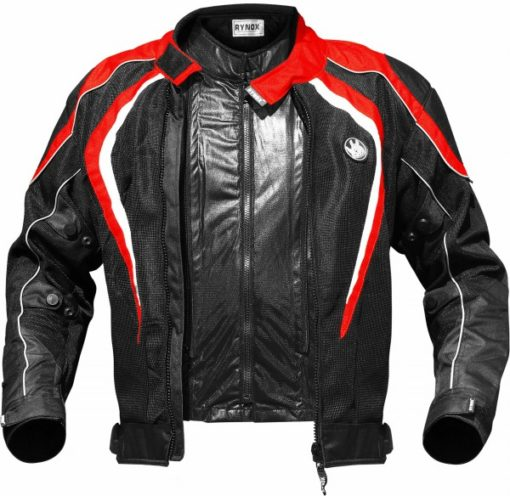 Rynox Tornado Pro V2 Black Red Riding Jacket 3