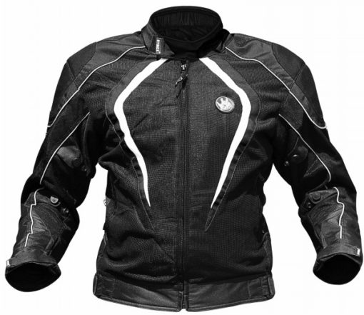 Rynox Tornado Pro V2 Black White Riding Jacket 1 1