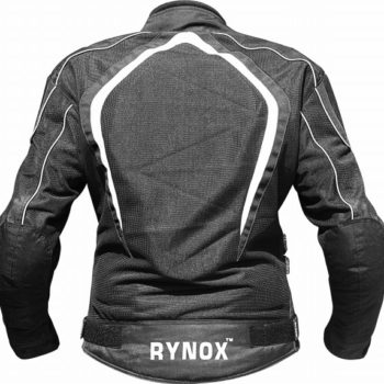 Rynox Tornado Pro V2 Black White Riding Jacket 2 1