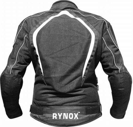 Rynox Tornado Pro V2 Black White Riding Jacket 2 1