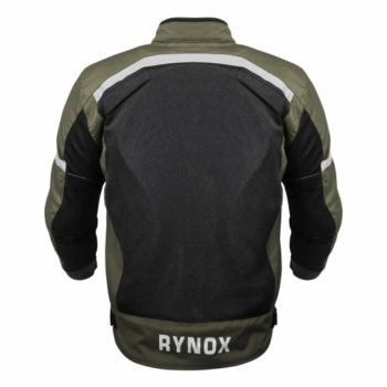 Rynox Urban Battle Green With Reflectors Riding Jacket 2
