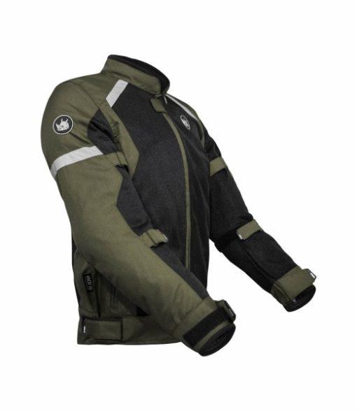 Rynox Urban Battle Green With Reflectors Riding Jacket 3