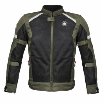 Rynox Urban Battle Green With Reflectors Riding Jacket