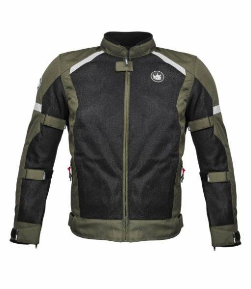Rynox Urban Battle Green With Reflectors Riding Jacket