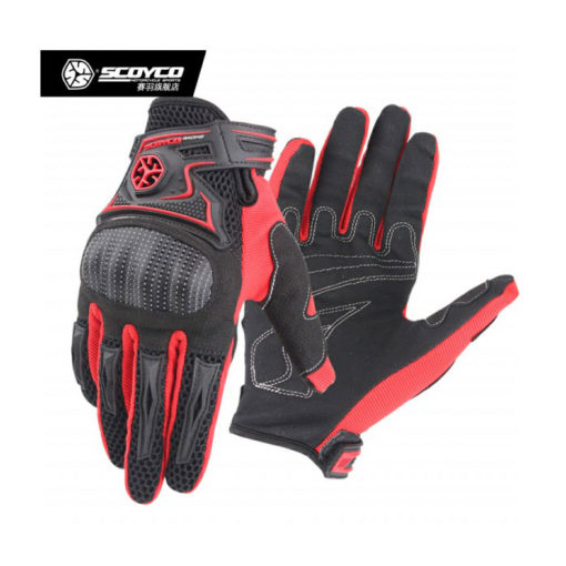 Scoyco MC 23 Black Red Gloves 2