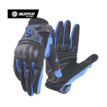 Scoyco MC23 Black Blue Gloves 2