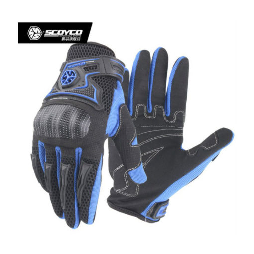 Scoyco MC23 Black Blue Gloves 2