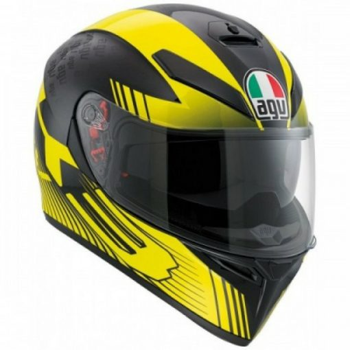 agv k3 sv multi glimpse helmet black yellow 1