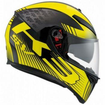 agv k3 sv multi glimpse helmet black yellow 2