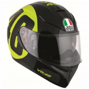 agv k3 sv top bollo 46 helmet black yellow 1