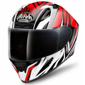 airoh valor conquer helmet black white red 800x800