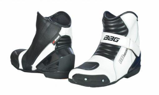 bbg white short boots 1