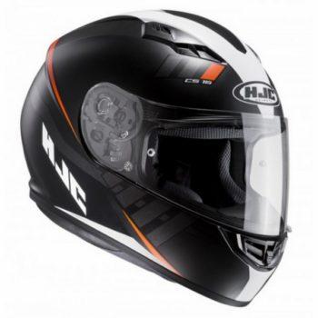 hjc cs 15 space mc7sf helmet black white orange