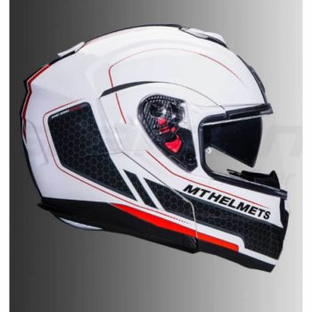 mt atom sv raceline evo gloss helmet white red Flip Up