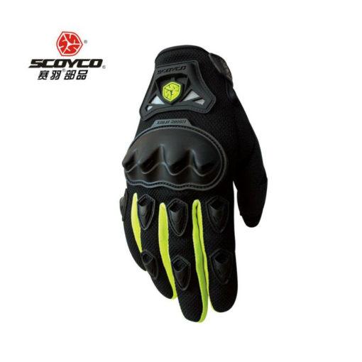 scoyco MC29 Black Yellow Gloves 1