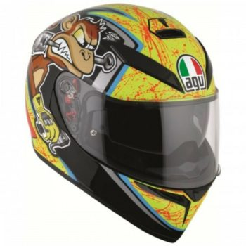 AGV K 3 SV Multi PLK Bulega Matt Black Yellow Full Face Helmet