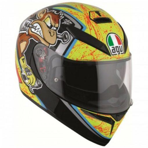 AGV K 3 SV Multi PLK Bulega Matt Black Yellow Full Face Helmet