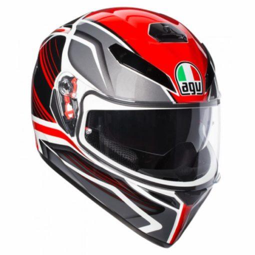 AGV K 3 SV Multi PLK Proton Matt Black Red Full Face Helmet