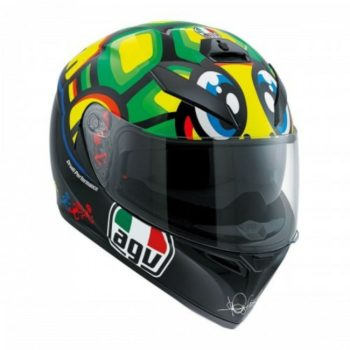 AGV K 3 SV Tartaruga Matt Black Yellow Green Full Face Helmet 1
