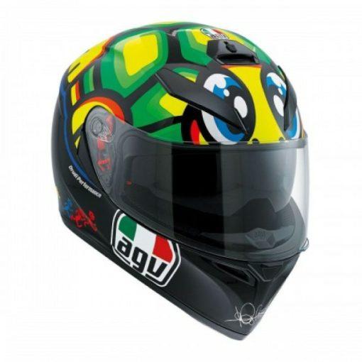 AGV K 3 SV Tartaruga Matt Black Yellow Green Full Face Helmet 1