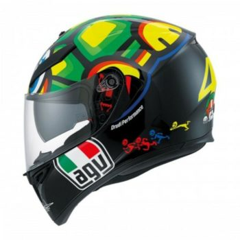 AGV K 3 SV Tartaruga Matt Black Yellow Green Full Face Helmet 2