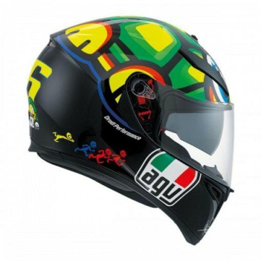 AGV K 3 SV Tartaruga Matt Black Yellow Green Full Face Helmet 3