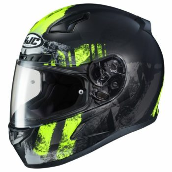 HJC CL 17 Arica MC3HSF Matt Black Grey Fluorescent Yellow Full Face Helmet