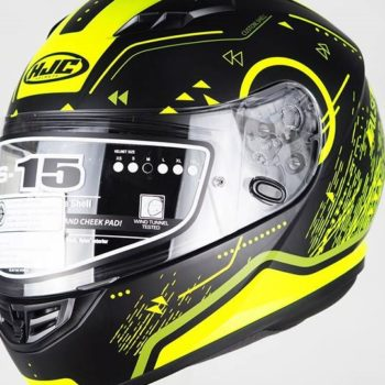 HJC CS 15 Safa MC4HSF Matt Black Fluorescent Yellow Full Face Helmet
