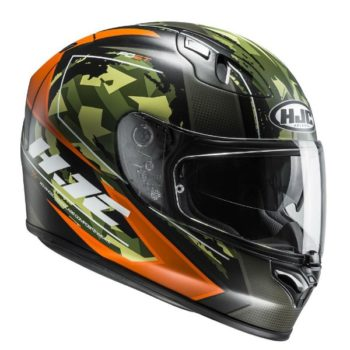 HJC FG ST Kume MC7SF Matt Black Orange Military Green Full Face Helmet