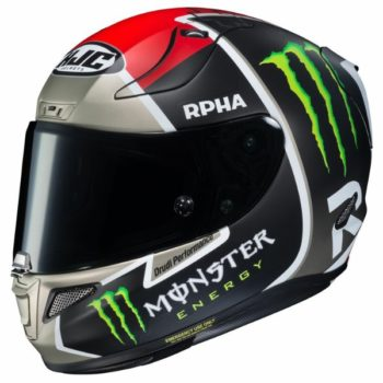 HJC RPHA 11 Jonas Folger Replica MC1SF Black White Red Silver Full Face Helmet